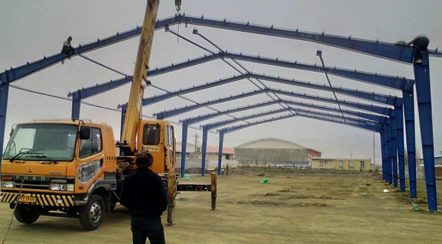 اجرای پروژه ساخت سوله